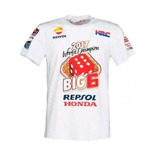 Marc Marquez Moto GP 2017 World Champion T Shirt Tee BIG 6 MM93 Repsol Honda