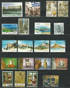 CYPRUS GREECE 2015 SMALL COLLECTION FROM TEN SETS USED (ΜΕΞ 106)