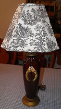 """Antique Peters & Reed Sprigged 26""""Tall Brownware Glaze Lamp C1900 Buy It Now"""