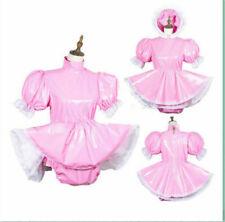 Adult sissy PVC Romper vinyl dress tailor-made:free shipping