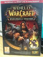 World of Warcraft: Warlords of Draenor -Pre-Purchase Box (PC/Mac) MINT CONDITION