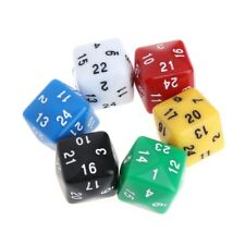 6pcs Multicolor Game Accessories 24 Sided Resin Number Dice Warcraft Magic Card