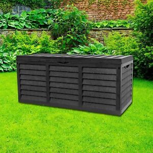 320LStorage Box Lockable Plastic Box With Lid Small Shed Outdoor