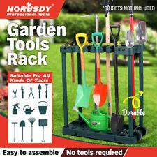 Rolling Garden Tools Storage Rack Long Short Handles Organizer Holders Fits 40