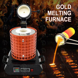 Upgraded 3KG Electric Metal Smelting Automatic Melting Furnace Graphite Crucible