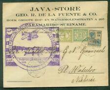 Suriname, 1930, First Flight Paramaribo-Suriname, proper cachet and franking,