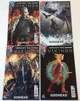 VIKINGS tv show comics ~ GODHEAD #1 2 3 4 ~ FULL SET
