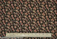 1/2 yard cotton fabric Small Jacobean Print floral quilting sewing apparel craft