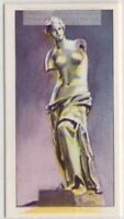 Greek Statue of Venus de Milo  The Louvre Paris Vintage Trade Ad Card