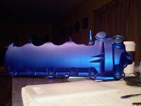 Anodized Flat Candy Blue Powder Coating Paint - 1 LB