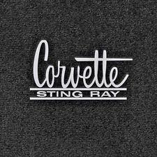 LLOYD ULTIMATS™ Black FLOOR MATS Silver logos 1966-1967 C2 Corvette STING RAY
