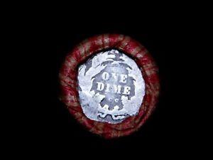 Crimped Shotgun Roll w/ CC Carson City Seated Dime & AU 1904 Indian Head Cent