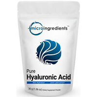 Micro Ingredients Plant-Based Pure Hyaluronic Acid Powder 30 grams 1.06 oz