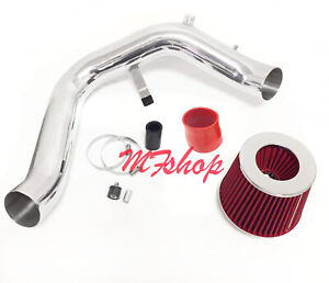 Red For 2004-2008 Acura TSX 2.4L L4 Cold Air Intake System Kit + Filter