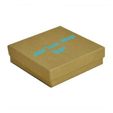 100 Add Your Logo Custom Printed Cotton Filled Jewelry Box Gift Boxes ~ 8 Sizes