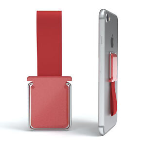 Finger Mount Phone 2in1 Stand Function Finger Loop Anti-slip Red