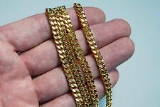 1m Panzerkette Gliederkette Halskette Blogger vergoldet Meterware Schmuckkette
