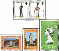 GB - Guernsey 135-136,161-162,164 (kompl.Ausg.) gestempelt 1976 Militäruniformen