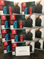 Nintendo Switch - 32GB Gray Console (with Neon Red/Neon Blue Joy-Con) Fast ship