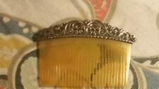 ANTIQUE STERLING ORNATE FILIGREE DOLL'S DOLL toy miniature HAIR COMB