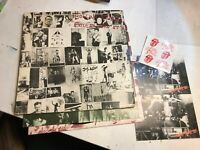 Rolling Stones Exile On Main St. '72 2 lp 12 Postcards COC 2-2900 w/6 stickers!