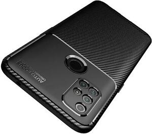 For OnePlus Nord N10 5G Case Slim Carbon Fibre Armour Phone Cover + Screen Glass
