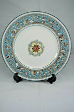 WEDGWOOD FLORENTINE TURQUOISE 9 INCH PLATE GREEN BACKSTAMP