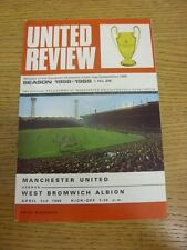 02/04/1969 Manchester United v West Bromwich Albion [With Token 36] (very neat t
