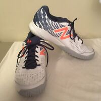 New Balance Mens 696Athletic Shoes White Blue 12.5 EE 12.5EE MCH696M3 Free Ship