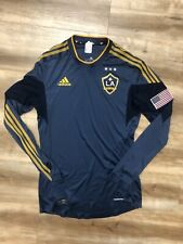 LOS ANGELES GALAXY MLS SOCCER 2010 ADIDAS FORMOTION LONGSLEEVE JERSEY MEDIUM