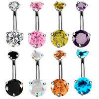 Fashion Women Belly Button Rings Navel Barbell Stud Body Piercing Jewelry