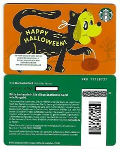 Geschenkkarte Starbucks Card Germany Deutschland Happy Halloween orange -6194-