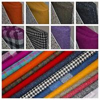Harris Tweed Fabric & Label VARIOUS COLOURS & SIZES craft herringbone tartan