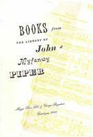 Books From The Library Of John & Myfanwy Piper  Part 1 1997 Maggs Catalogue PBK