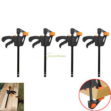 4Packs 4 Inch Wood Working Bar F Clamp Grip Ratchet Release Squeeze DIY Hand New