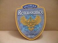 Salopian Brewery Renaissance Ale Beer Pub Bar Pump Clip Face 1
