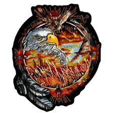 """SUPER JUMBO 11"""" EAGLE DREAM CATCHER JACKET BACK PATCH JBP106 EMBROIDERED EAGLES"""