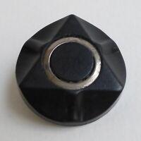 Bouton ancien - Galalithe & métal - Géométrique - 26 mm - Plastic Button