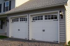 Malibu Design [9' x 7'] Craftsman Solid Paint Grade Wood Garage Door w/Windows