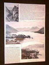 Savoja 1905 Aix Les Bains Abbazia d'Altacomba Talloires Lagod'Annecy + Mosca