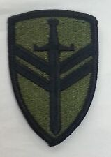 TOPPA PATCH US ARMY 2nd SUPPORT COMMAND VII CORPS AMERICANA BASSA VISIBILITA'