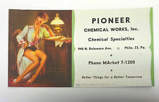 "1950's Gil Elvgren Pin Up Advertising Blotter Card Do You Think I ""No"" Too Much?"