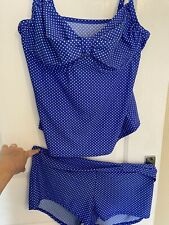 Ladies Polka Dot Swimsuit swimming costume Tankini Size 20 Underwired