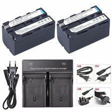 2x NP-F770 NP-F750 F770 F750 Camera Batteries + DUAL Charger For Sony CCD-RV100