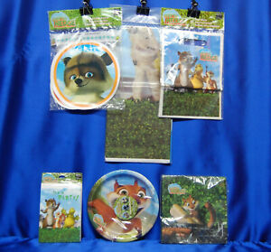 Over The Hedge Party Set # 6 Napkins Plates Tablecover Invite Banner For 8