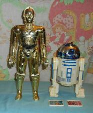 """vintage Star Wars large-size (12"""") R2-D2 ARTOO-DETOO & C-3PO SEE-THREEPIO Kenner"""