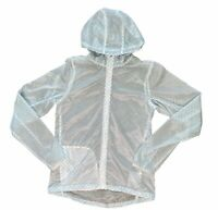 Nike Vapor Cyclone Jacket Women's Small Packable Running Rain Transparent