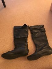 Women's Kelly and Katie Black Leather Boots, Size 8.5 Gently Used