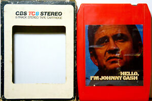JOHNNY CASH Hello My Name Is Johnny Cash  8 TRACK CARTRIDGE