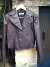 ARMANI - SHORT JACKET IN A FAUX NAPPA LEATHER - SIZE 10 / 12